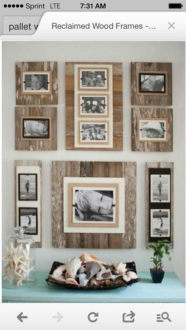 Pallet picture frames diy organization projects pinterest pallet picture frames sciox Image collections