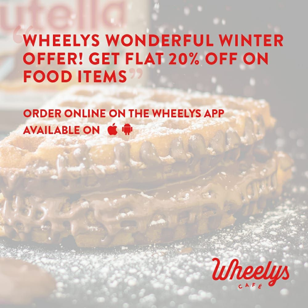 Wonderful choices with wonderful offer Wheelys. cafe