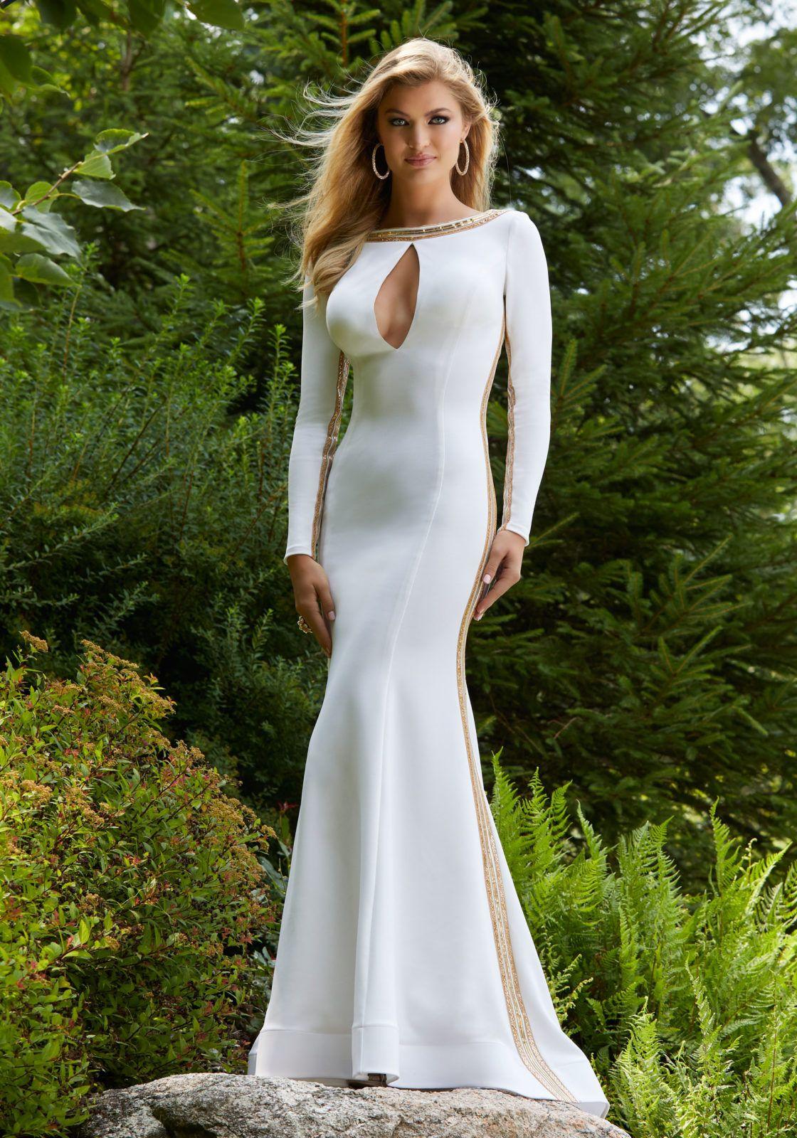 BMbridal Silver Half Sleeve Sequins Prom Dress Mermaid