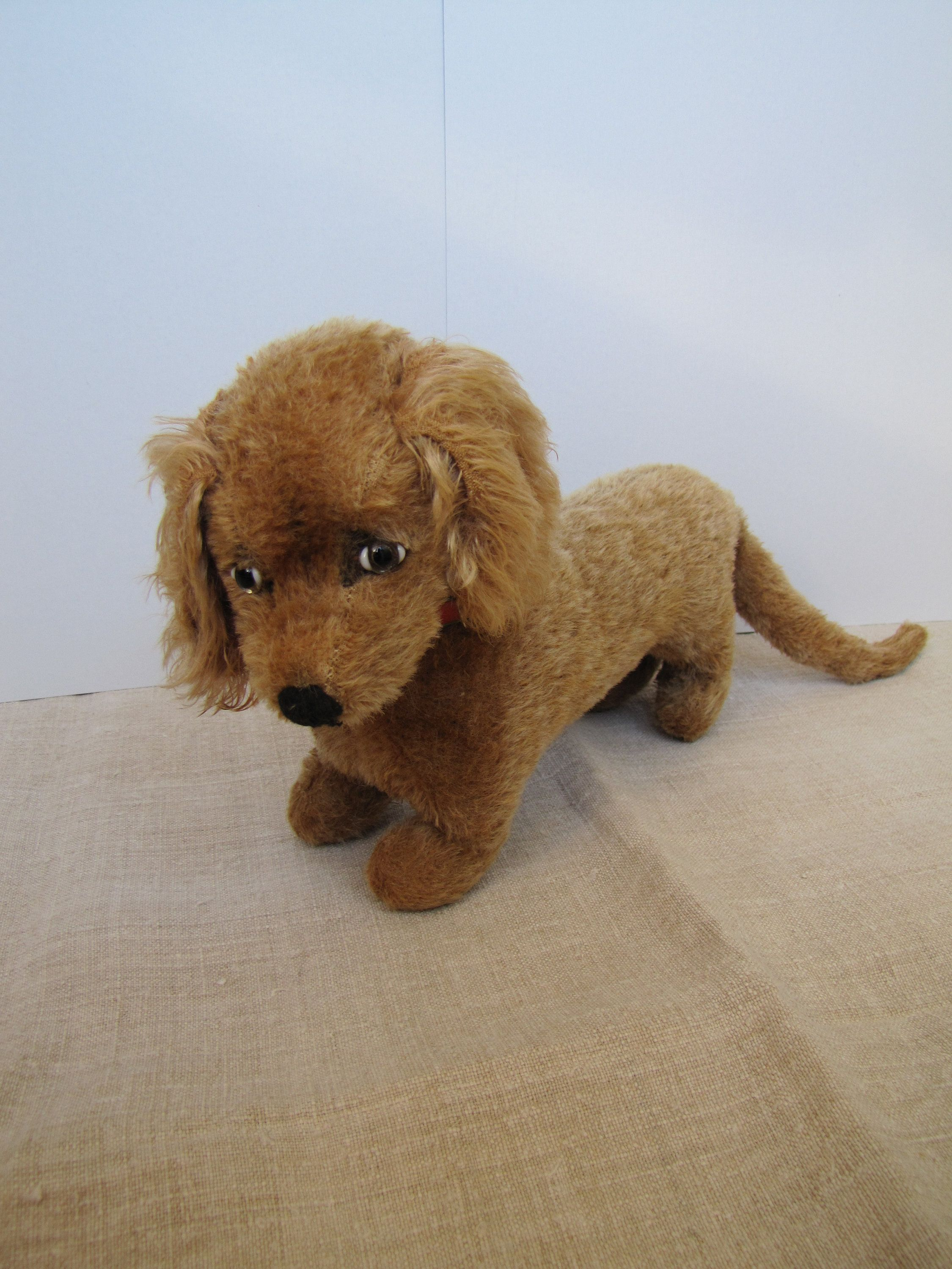 Germany Mohair Dachshund Dog 1950s Excelsior Stuffed Light Brown