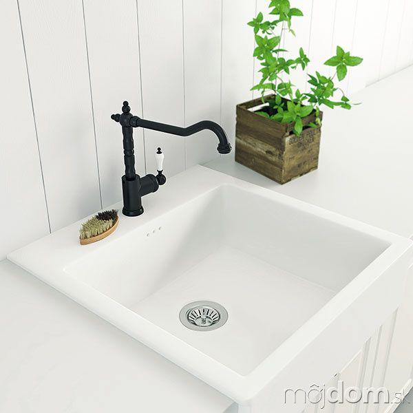 GLITTRAN Kitchen faucet, black Porcelain sink, Sinks and Porcelain - wasserhahn küche locker