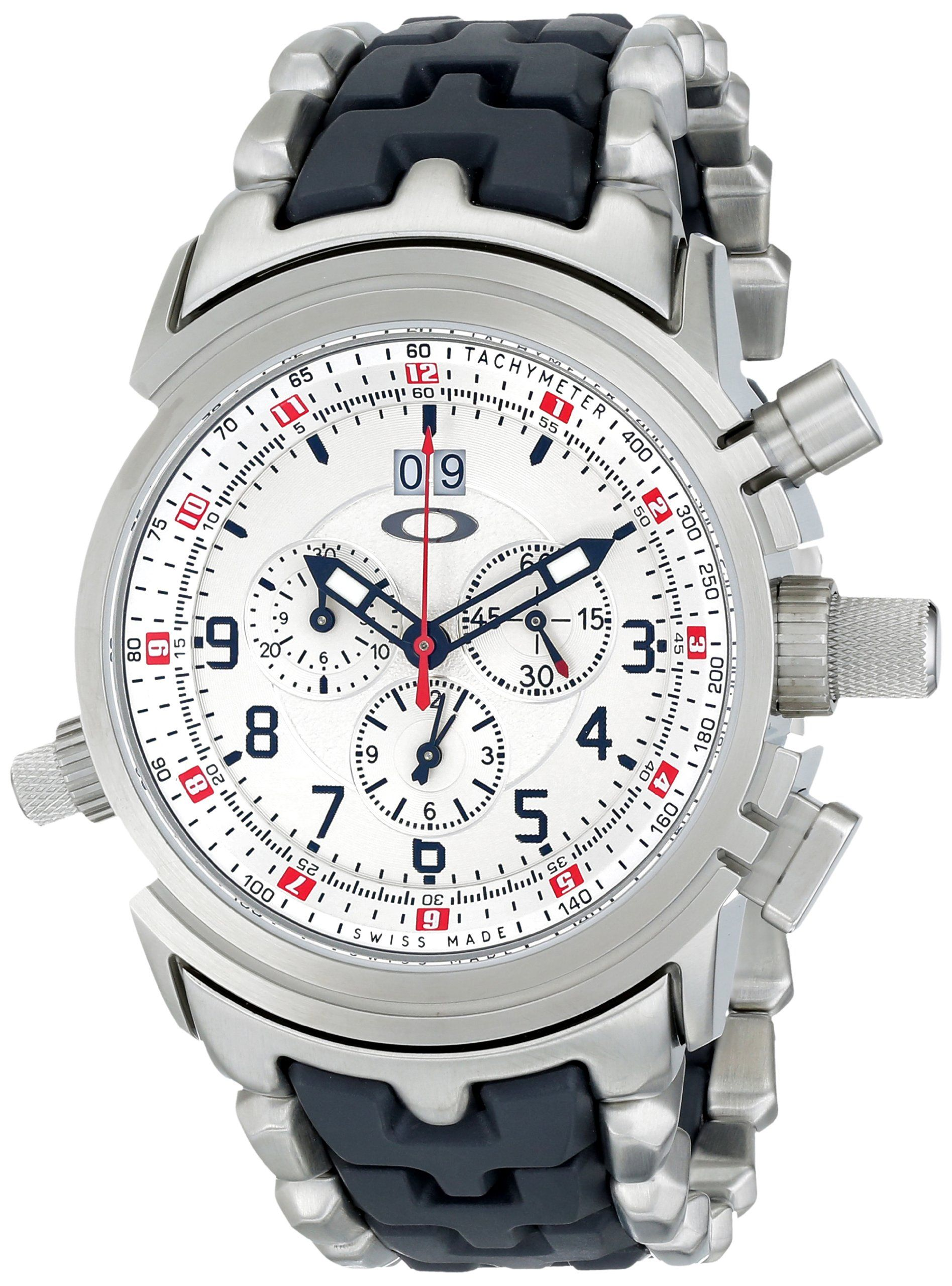 Oakley Men S 10 058 12 Gauge Chronograph Stainless Steel Bracelet Edition Watch Oakley Watches Mens Watches Leather Oakley Men