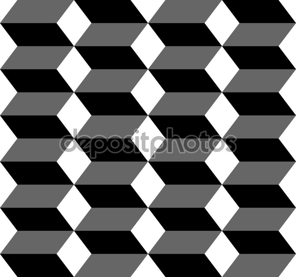 hight resolution of black and white geometric seamless pattern with trapezoid and diamond abstract background