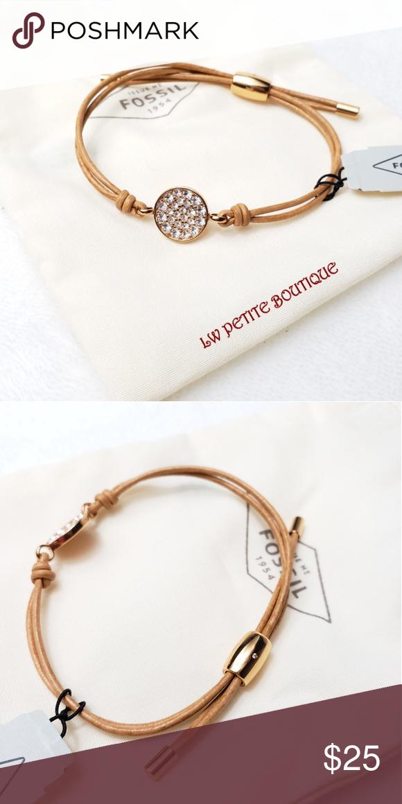 f62737b4f174d Fossil Bracelet Double corded bracelet with pendant. Adjustable ...