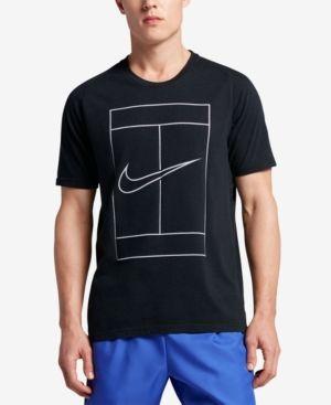 Nike Men S Court Dry Graphic Tennis T Shirt Black 2xl Tennis Tshirts Nike Men Court Shirt