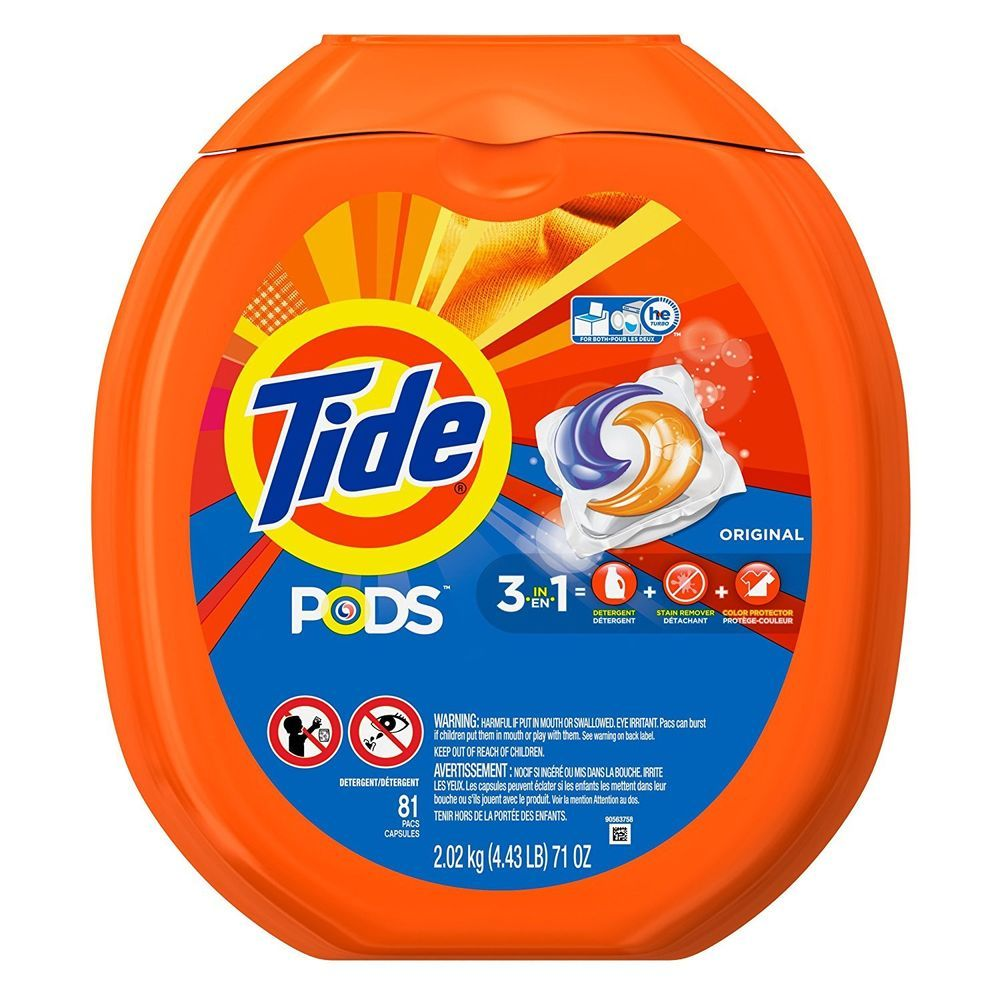 Tide Pods HE Turbo Laundry Detergent Packs, Original Scent, 81 Count #Tide