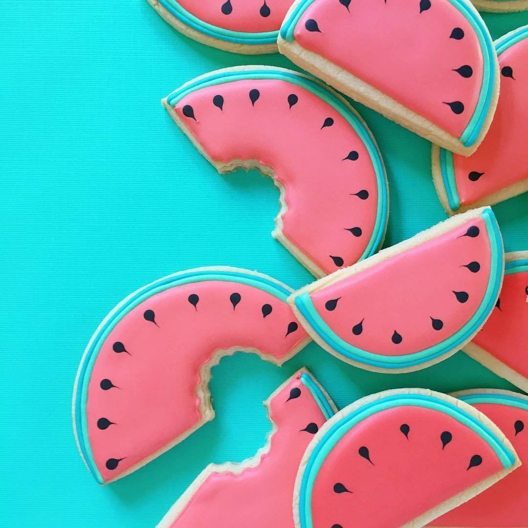 """""""Watermelon cookies! @hol_fox is the best.  #ABMlifeissweet"""""""