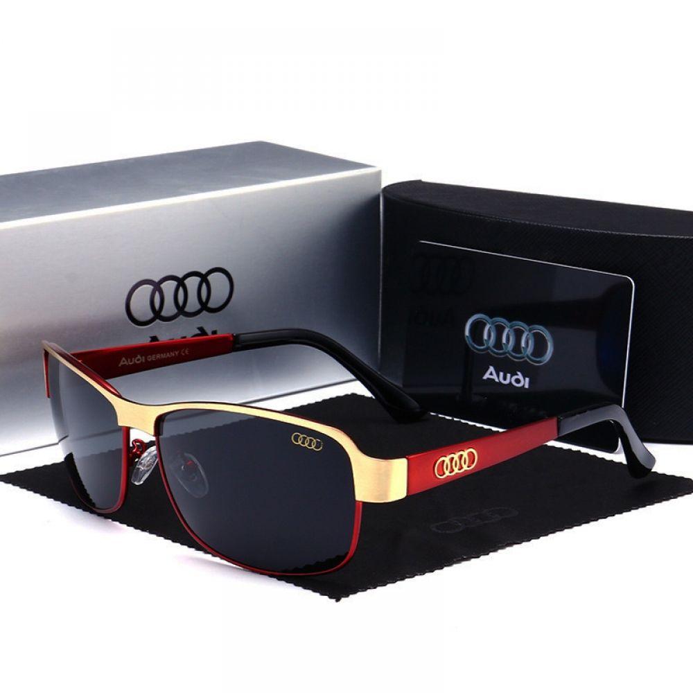 2020 Audi Sonnenbrillen Sunglasses Luxury Metal Men Polarized With Box