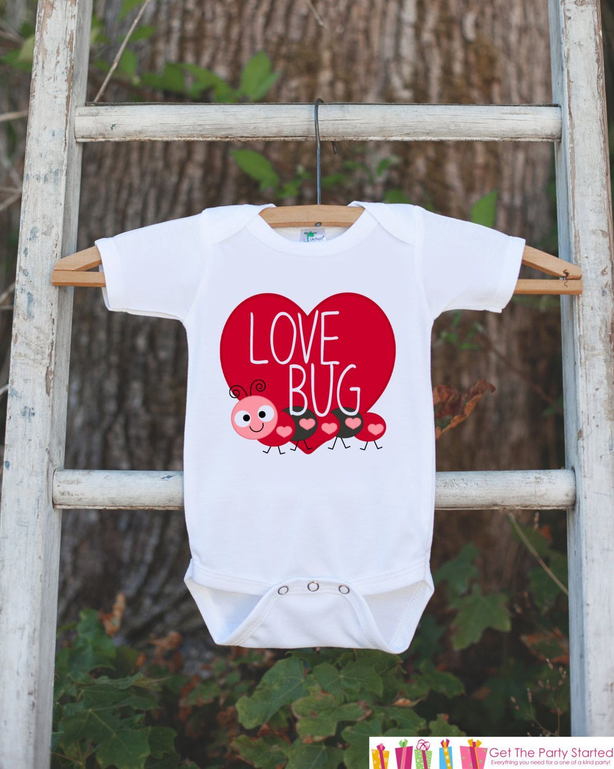 kids valentines day outfit love bug valentines onepiece novelty valentine shirt for baby girls - Girls Valentine Outfits