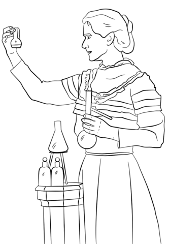 Marie Curie Coloring Page Coloring Time Printable Coloring