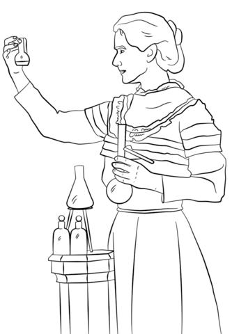 Marie Curie Dibujo para colorear | Dibujos y pintar | Pinterest ...