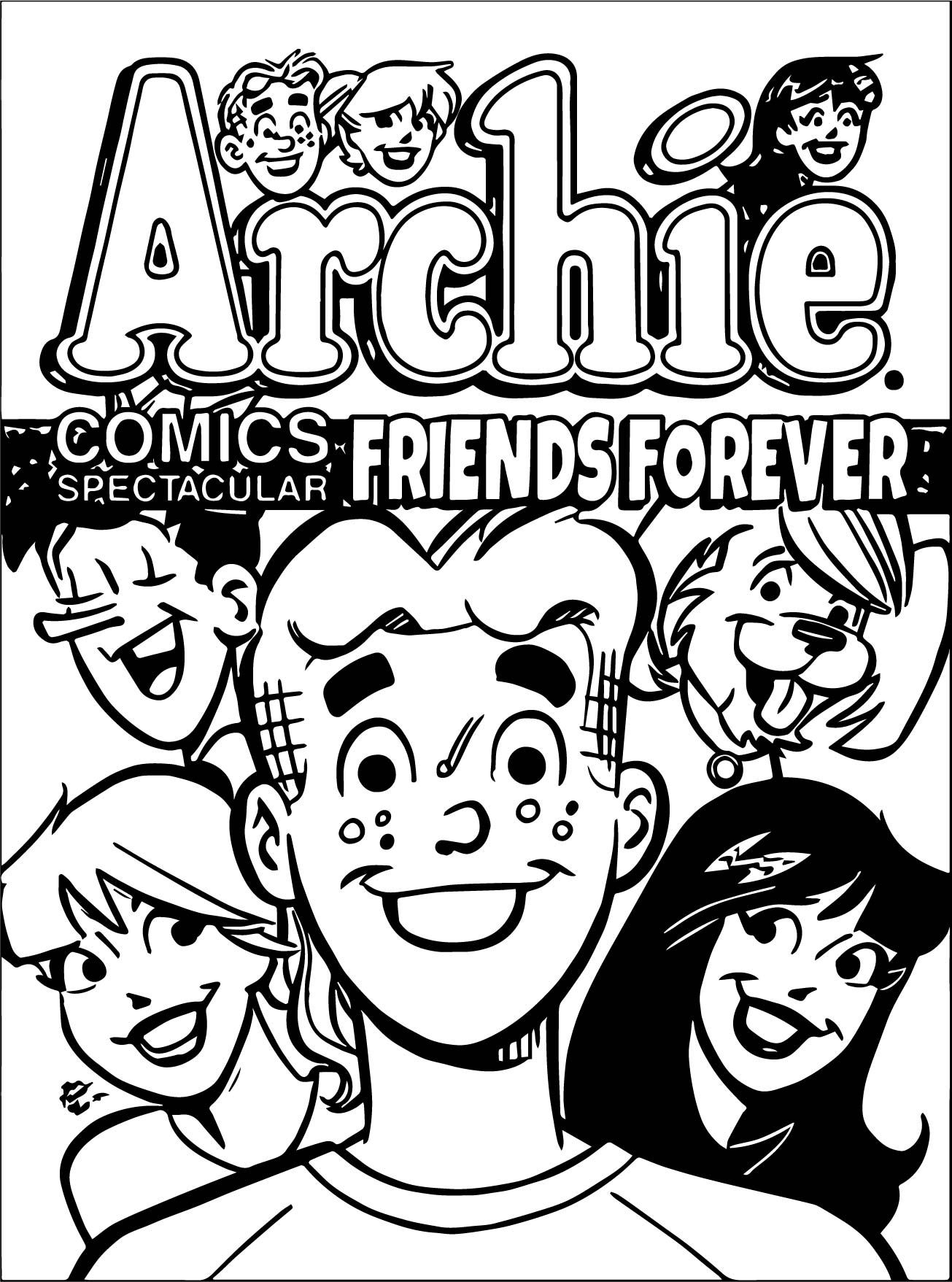 Cool Archie Comics Spectacular Friends Forever Coloring Page Archie Comics Friends Forever Comics