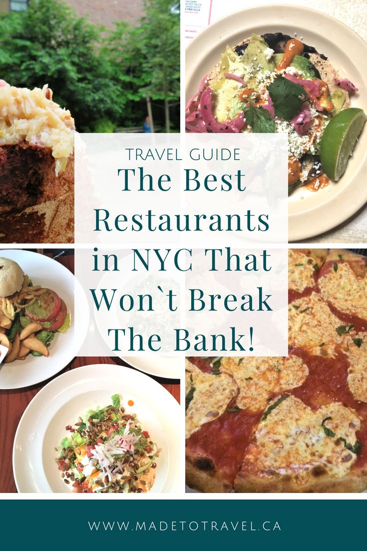 The 11 Best Restaurants In Nyc Travel United States Fun
