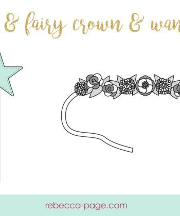Felt Crown and Wand Sewing Pattern - Rebecca Page