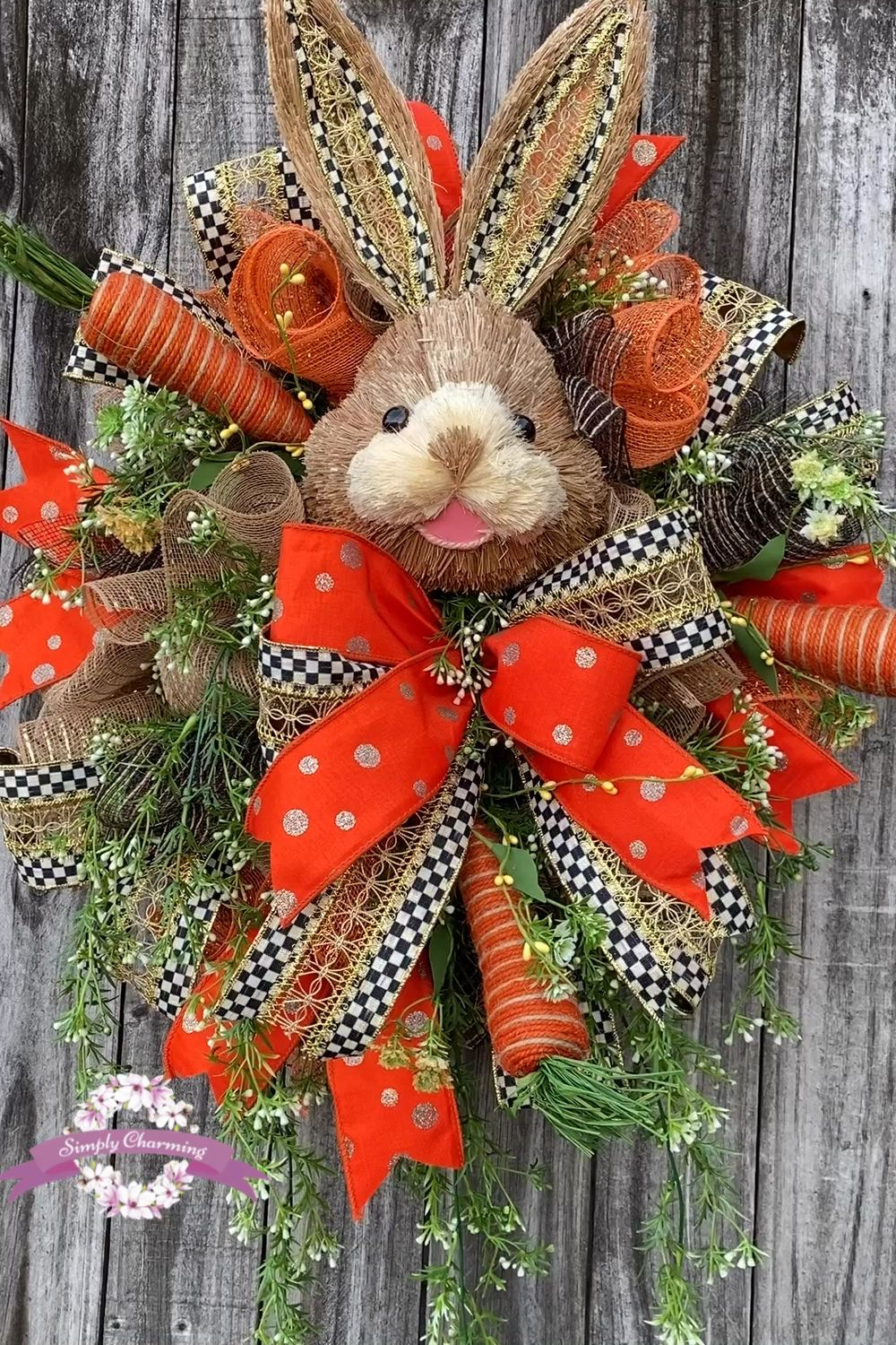 Photo of Easter wreath of spring rabbit Easter wreath | Etsy