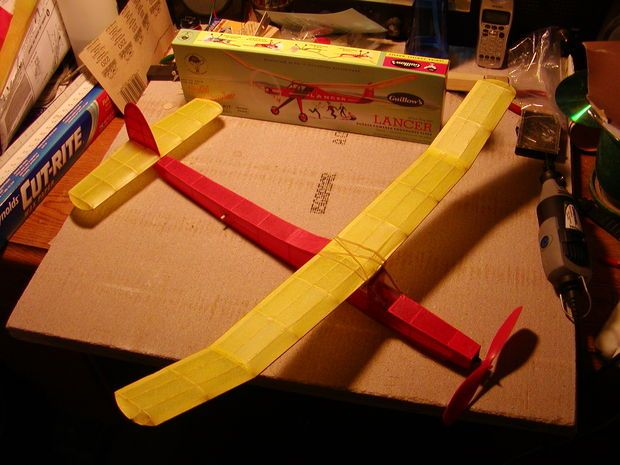 Covering a Model Airplane in Tissue   Models   Model