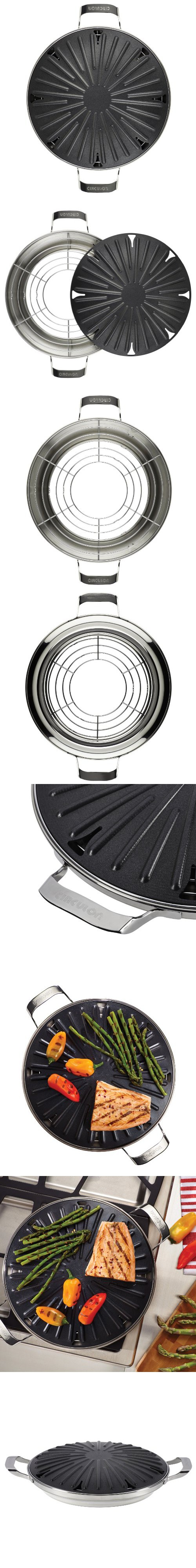 Circulon Hard-Anodized Nonstick 12-Inch Round Stovetop Grill with ...
