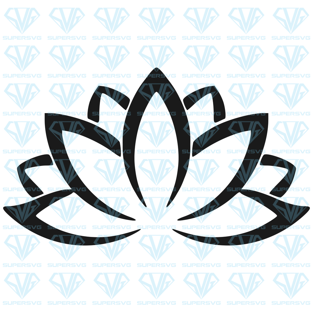 Lotus Flower SVG Files For Silhouette, Files For Cricut