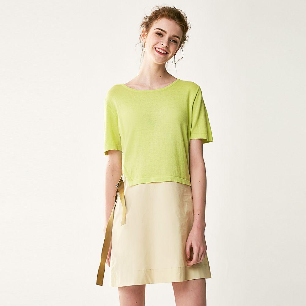 Yellow dress for women  Click to Buy ucuc  Summer Yellow Dress Women Short Sleeve