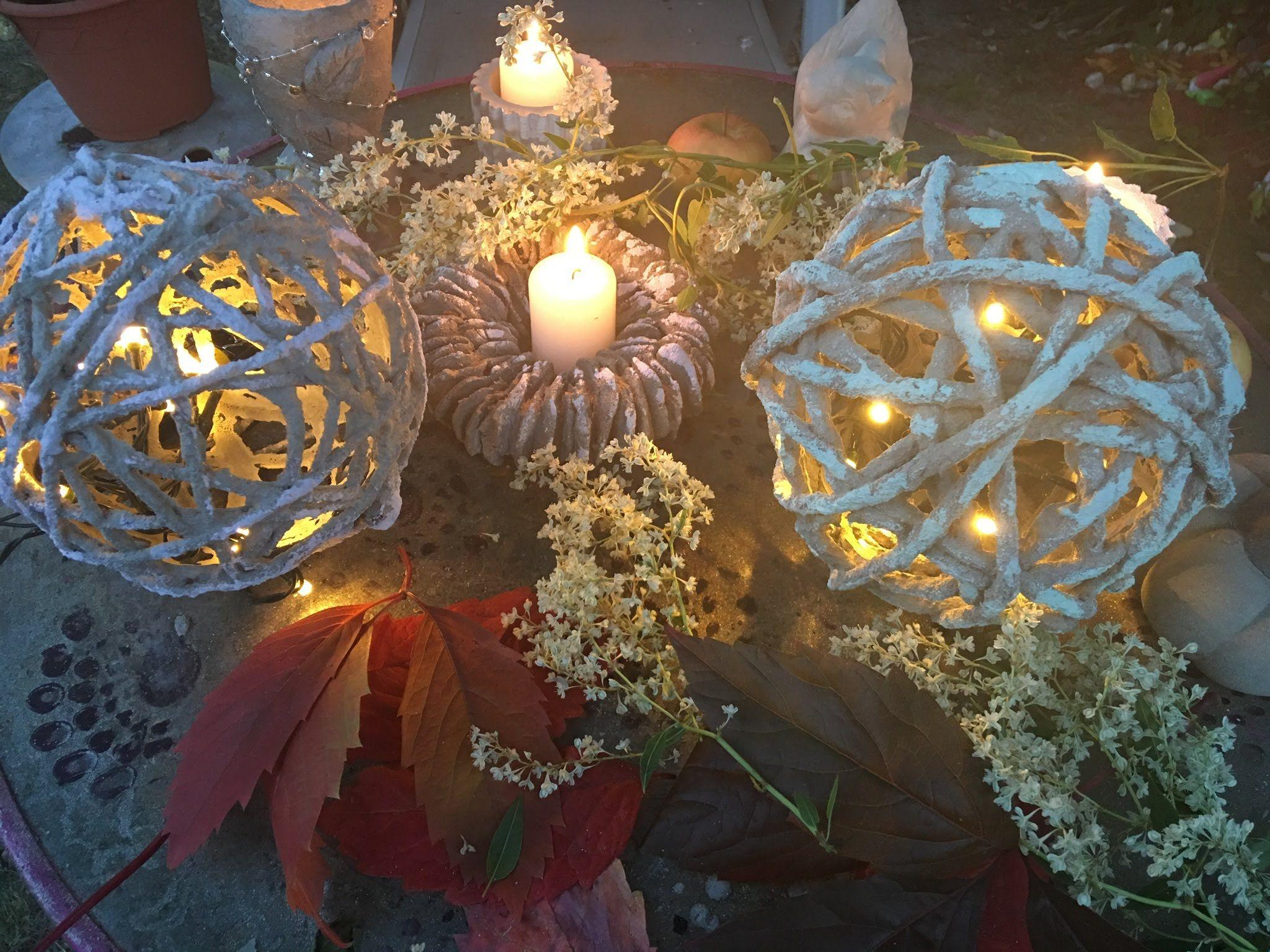Beton Gitter Woll Lampe, Herbst Design :) | DIY Liste | Pinterest ...
