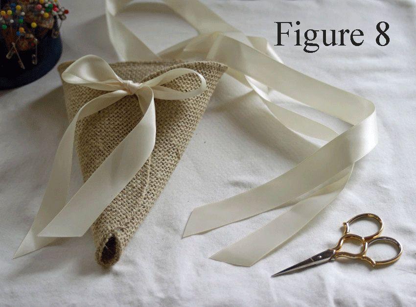 Burlap cone with tying ribbons sewing pattern chair pew aisle diy rustic weddings burlap cone with tying ribbons sewing pattern chair pew aisle decor pdf epattern for junglespirit Gallery