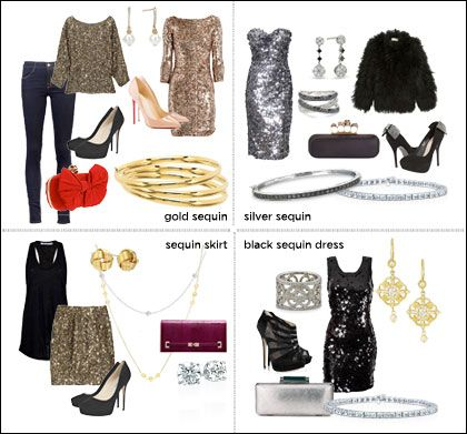 What Shoes and Accessories to Wear with Sequin Dress Sequins Gold