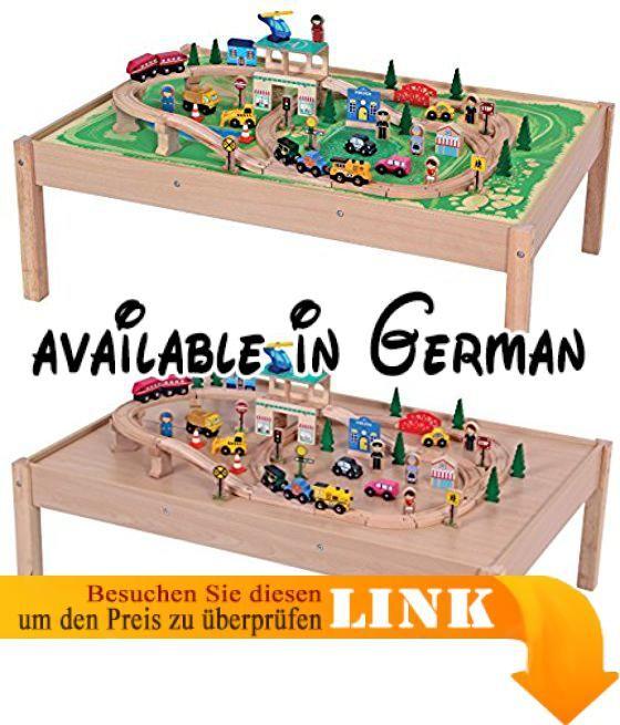 Spieltisch Eisenbahn riesige holzeisenbahn vorstadt eisenbahn aus holz mit tisch 104 cm