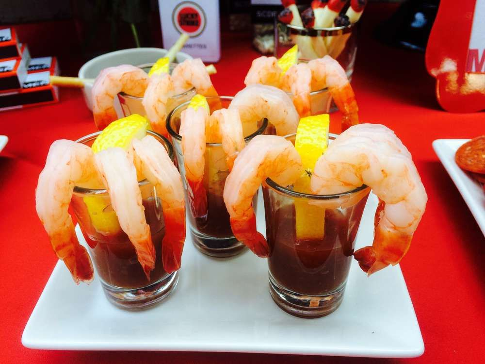 Shrimp cocktail at a Mad Men party! See more party ideas at CatchMyParty.com!