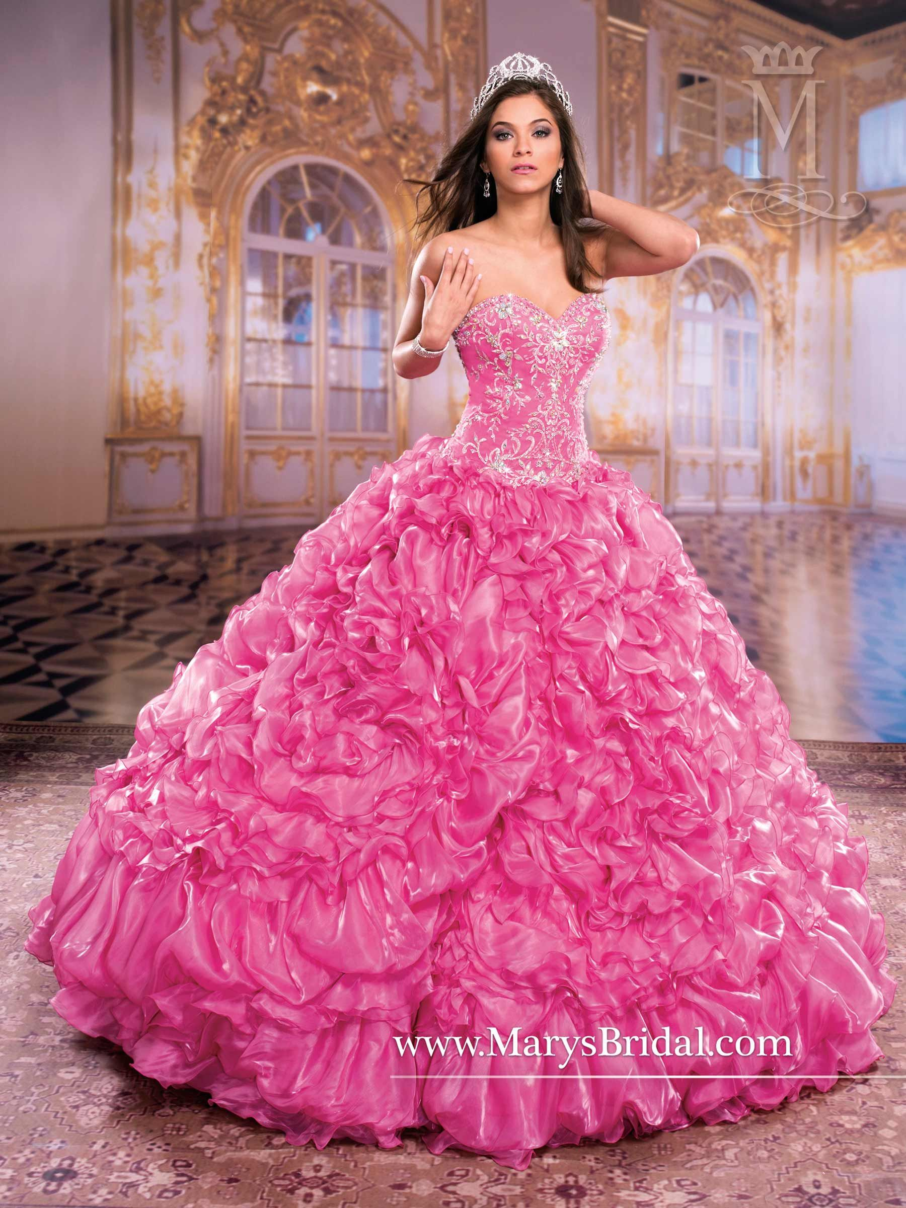 Pink Quinceanera Princess Dress. Mary\'s style ID 4Q859 | Princess ...