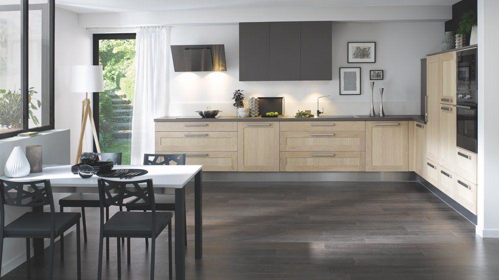 cuisine bois blond et foncé cuisinella design Pinterest