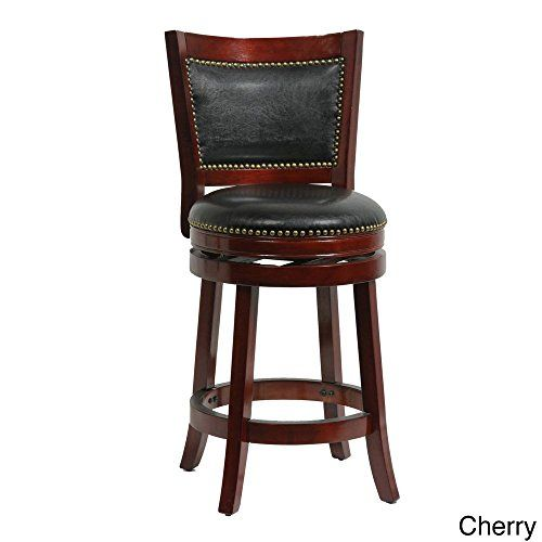 Luxury 26 Inch Swivel Bar Stools with Back