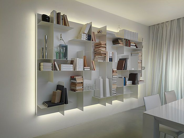 Contemporary Modular Bookcase Movida By Enrico Cesana Olivieri Classic Interior Design Bookcase Shelving