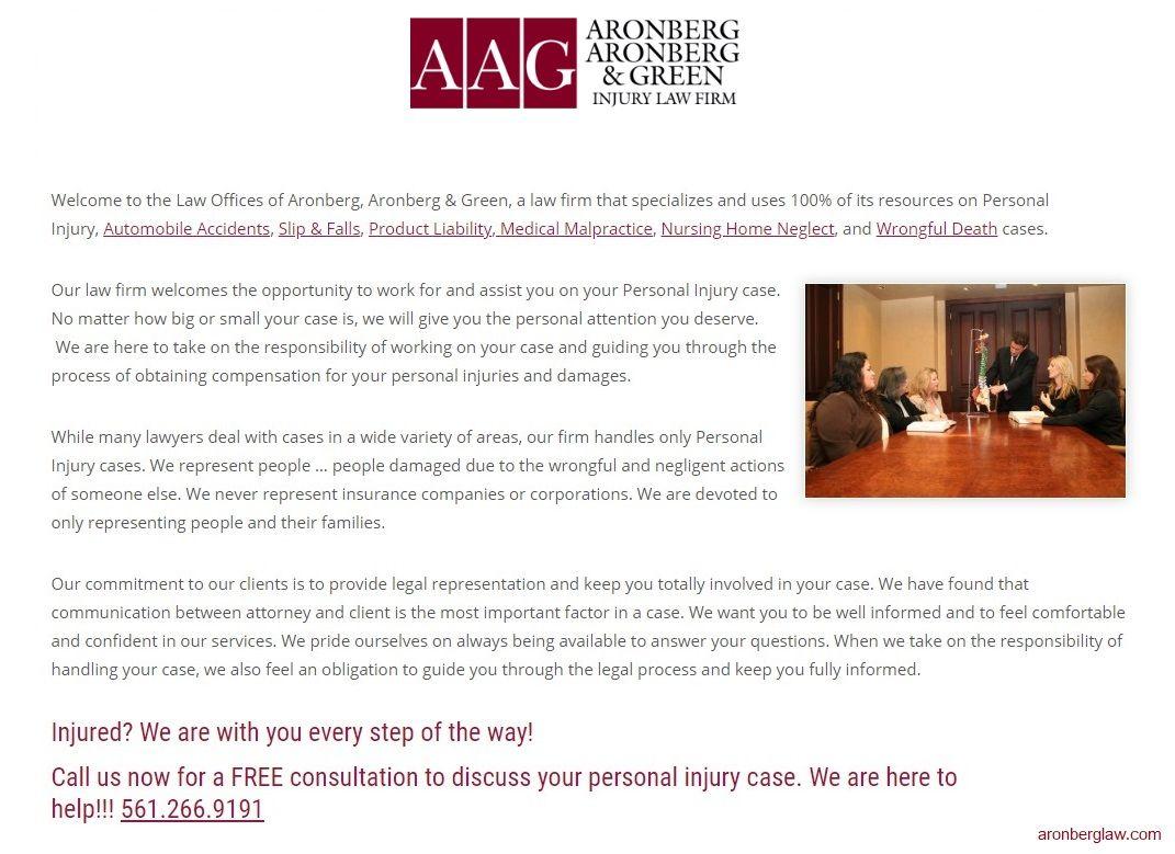Aronberg Aronberg Green Injury Law Firm Personal Injury