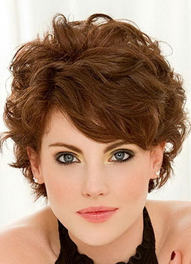 Short Fine Curly Hair Haircuts Short Hairstyles For Fine Wavy Hair