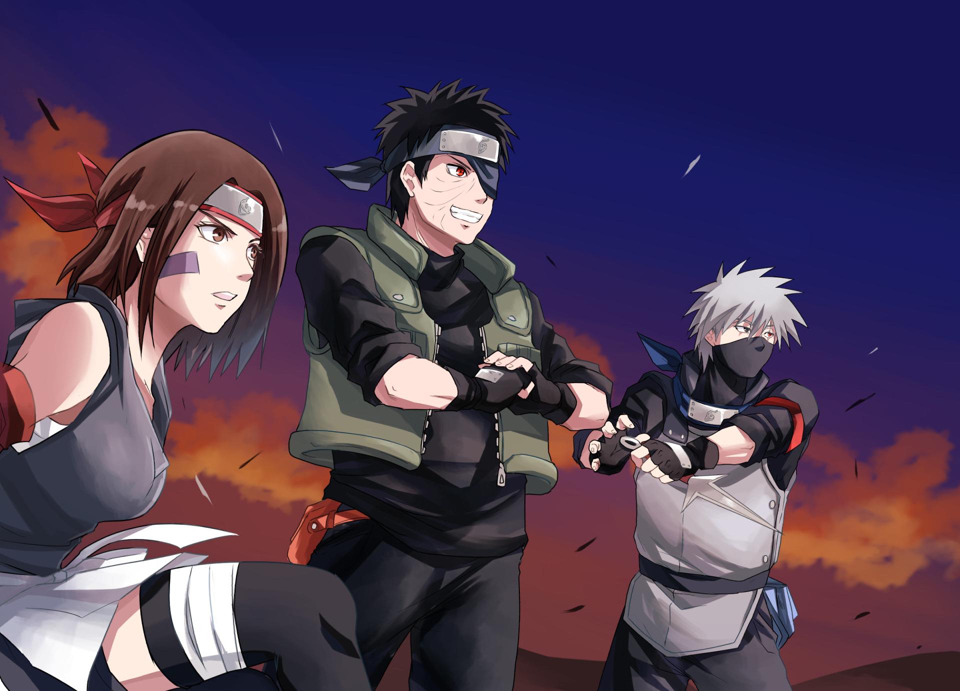 Anime Naruto Kakashi Hatake Obito Uchiha Rin Nohara Wallpaper Personagens De Anime Kakashi Naruto Personagens