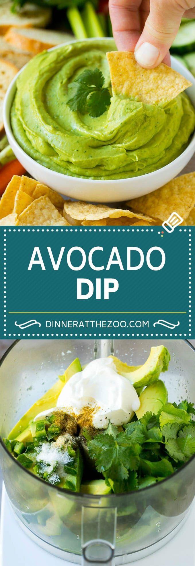 Avocado Dip Rezept | Gesundes Avocado-Rezept | Avocadosauce ...   - food -