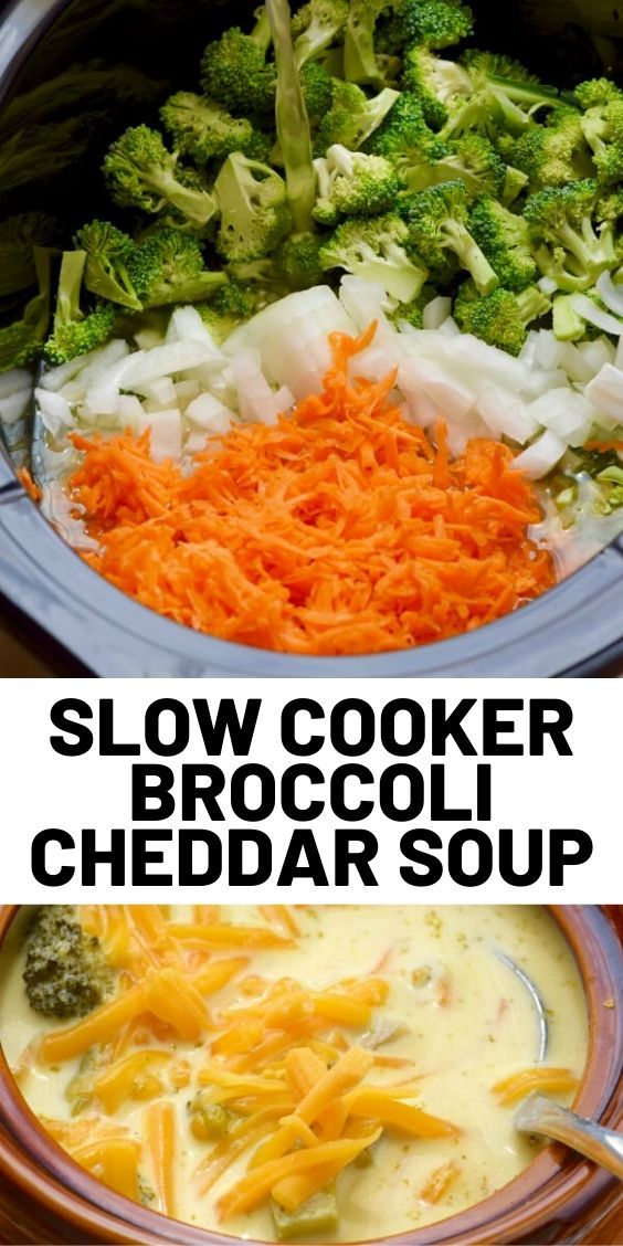 Photo of Slow Cooker Broccoli Cheddar Soup