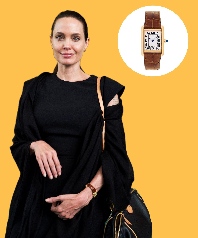 Angelina Jolie S Cartier Tank Louis Watch Dujour Cartier Watches Women Angelina Jolie Cartier Watch