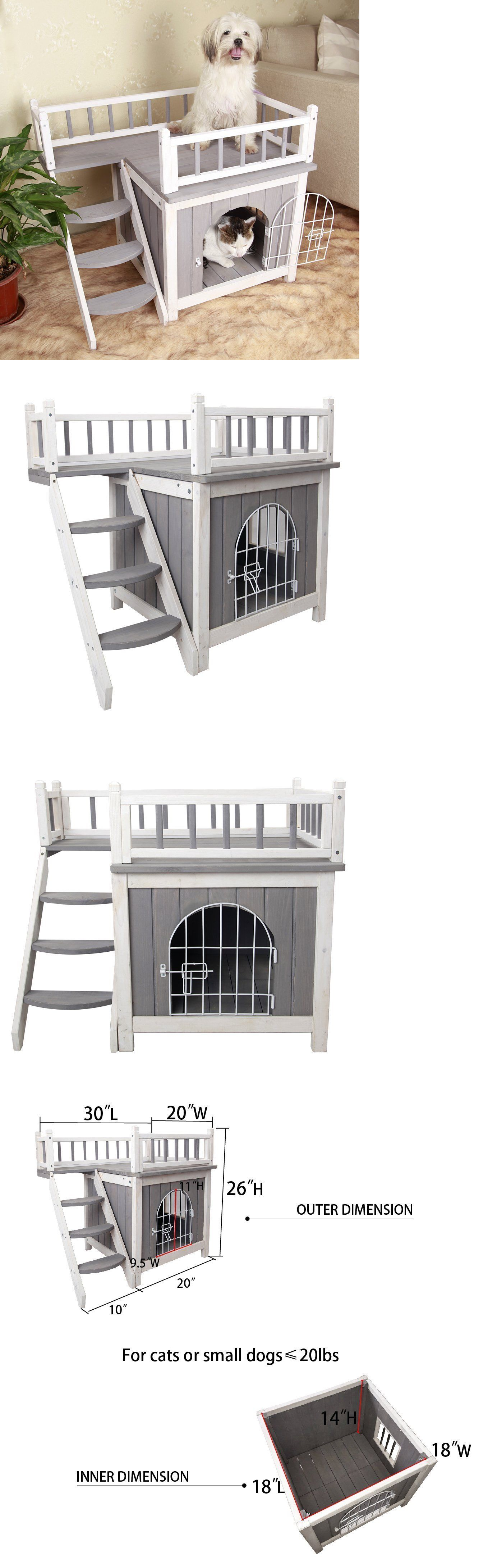 Dog Houses 108884: Dog House Outdoor Pet Bed Puppy Kennel Cage ...