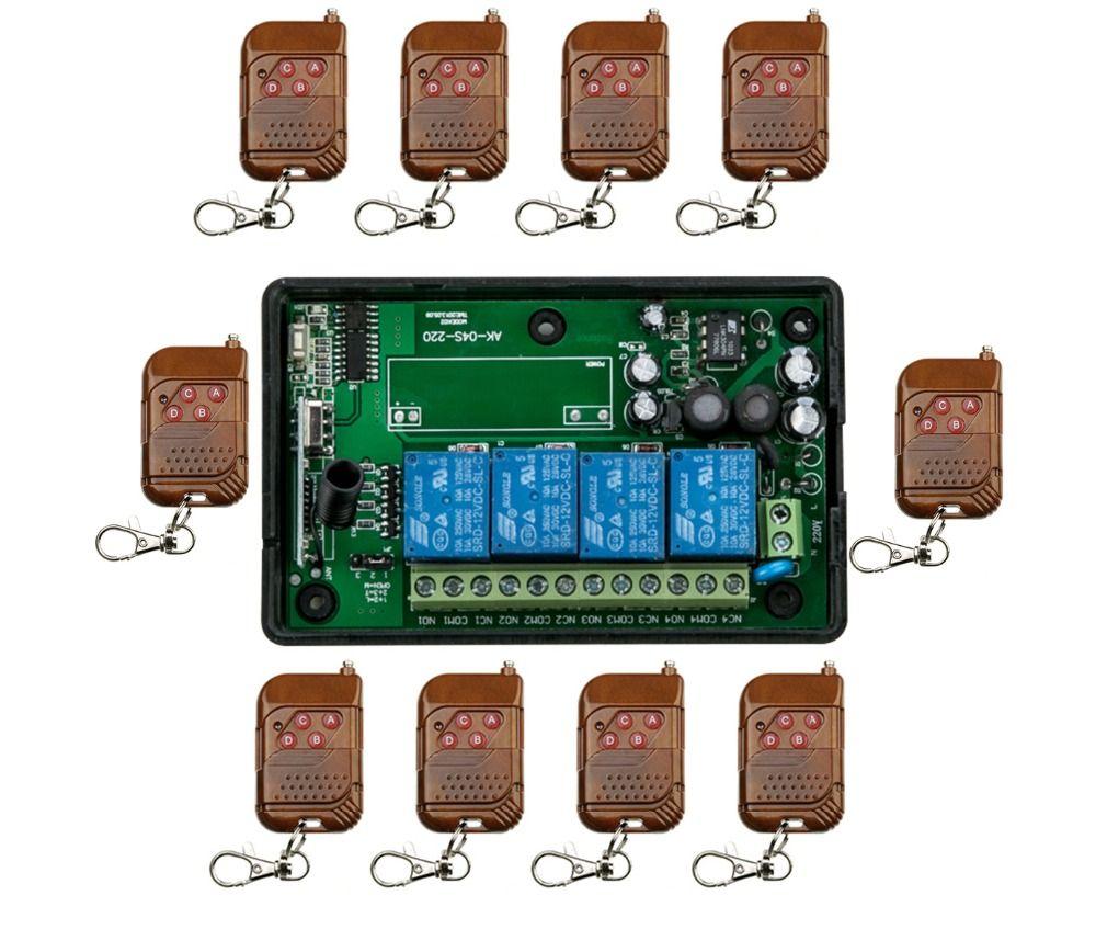85V~250V 110V 220V 240V 4CH 11pcc/lot RF Wireless Remote