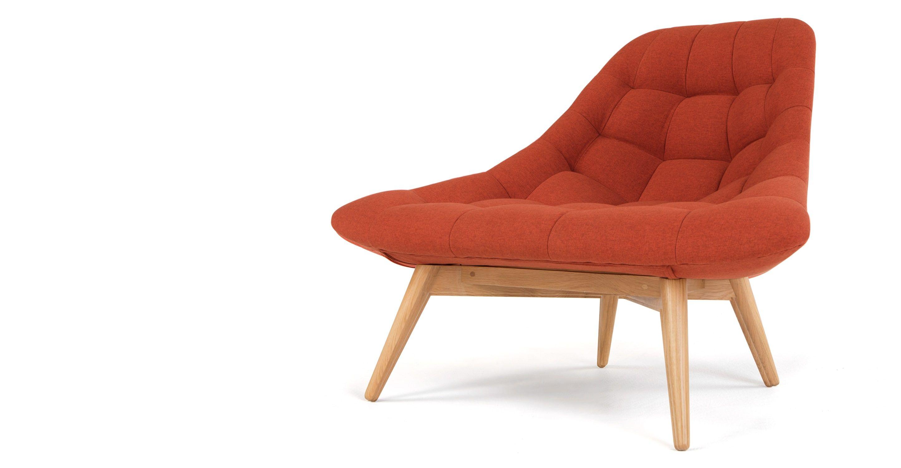 Kolton Loungesessel Retroorange Stuhl Sessel Und Nahzimmer