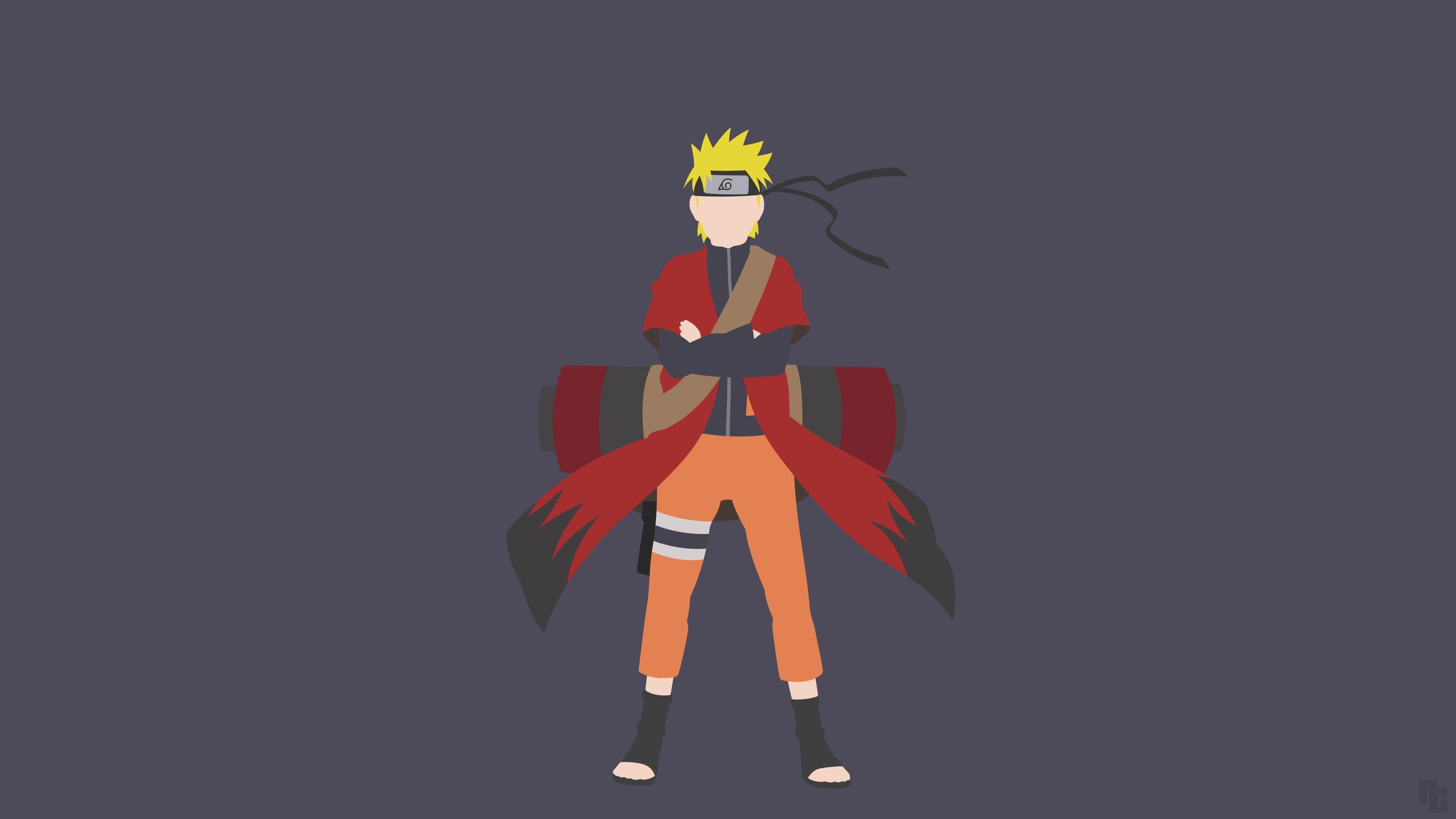 Anime Naruto Shippuuden Uzumaki Naruto Minimalism 4k Wallpaper