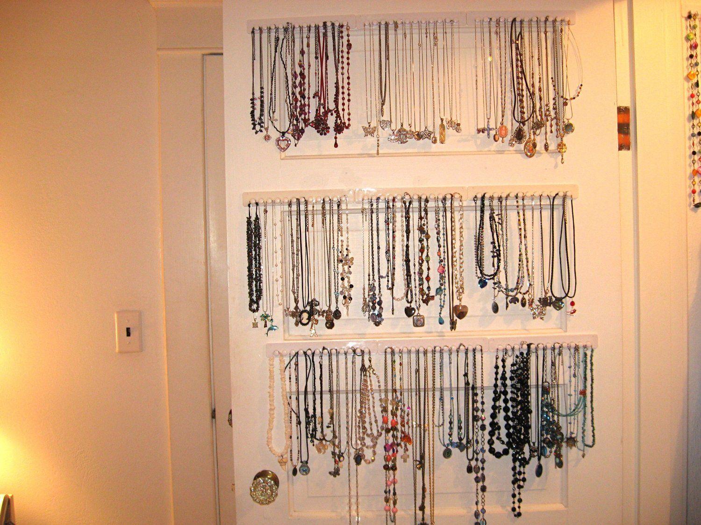 Amazoncom Necklace Hanger Jewelry Organizer 4 Pack Closet