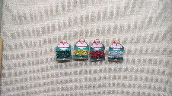 Miniature christmas tinsel garland holiday dollhouse miniatures