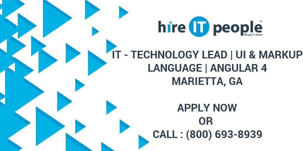 It technology lead markup language language job
