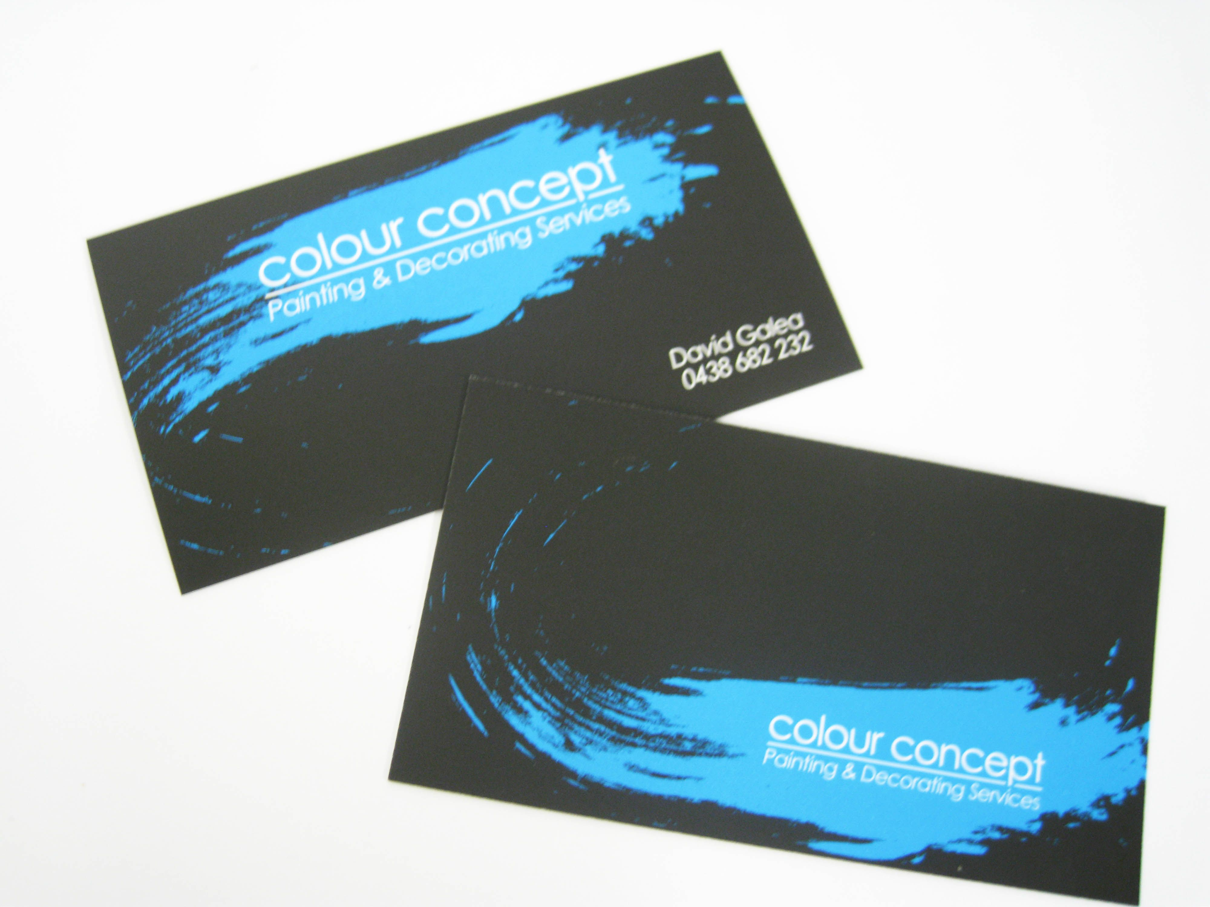 Matte Laminated Business Cards designed and printed for Colour ...