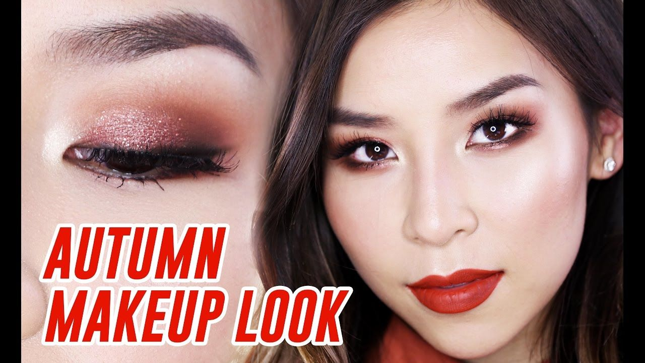 Red & Copper Autumn Makeup Tutorial Great for Hooded Eyes