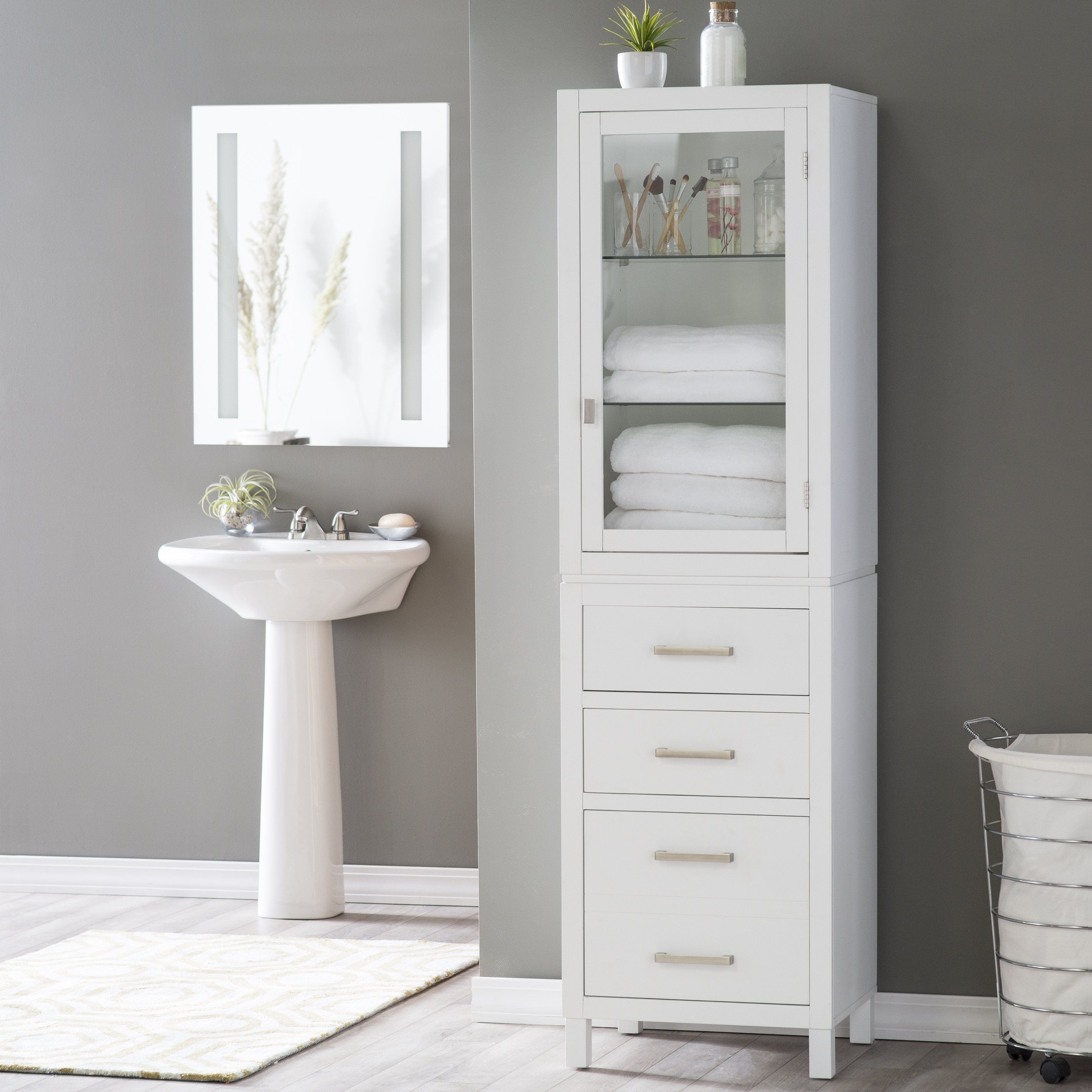 Free Standing Bathroom Linen Cabinets Bathroom Cabinets Are An Essential Attribute To An Tall Bathroom Storage White Bathroom Storage Bathroom Floor Cabinets