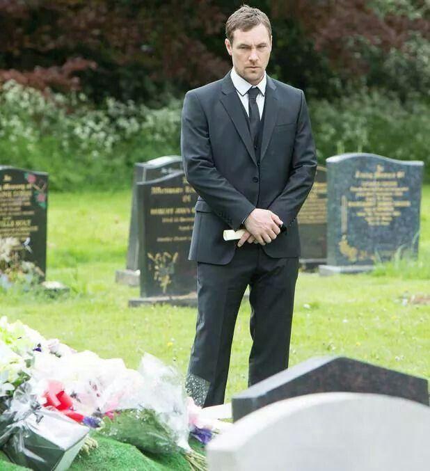 Rob at Tina's grave