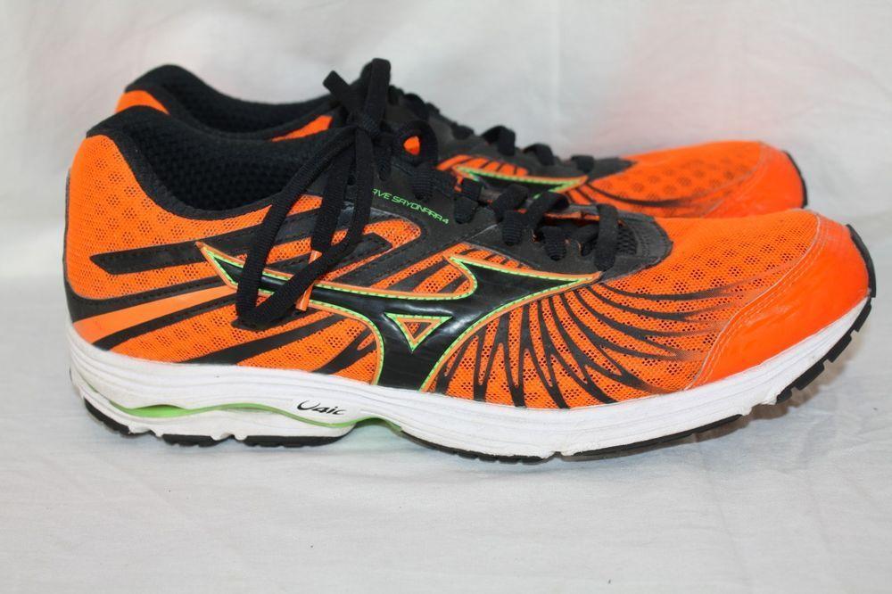 mizuno volleyball shoes orange and black ebay